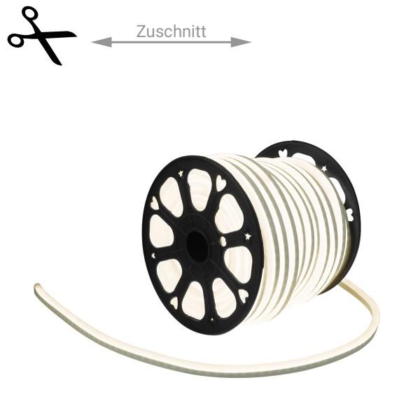 LED Lichtschlauch NEON FLEX 230V Slim - WARMWEISS - 100cm Zuschnitt - Anfertigung nach Mass