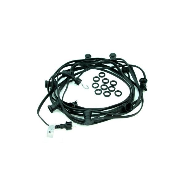 ILLU-Lichterkette 10m - 10 x E27 - IP44 - ohne Leuchtmittel - SATISFIRE