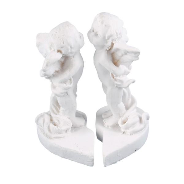 Engelspaar küssend - weiß - 7 x 5 x 4,5cm