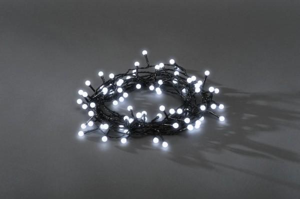 LED-Kugellichterkette - Ball Line Outdoor - 12,72m - 160x Kaltweiß - Schwarzes Kabel