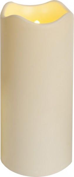 LED-Kerze | Kunststoff | Paul-Design | flackernde LED | Lichtsensor | Creme | →10cm | ↑23cm
