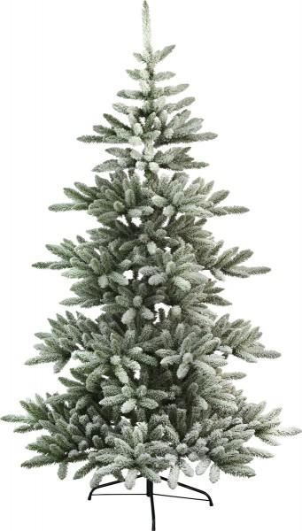 """Weihnachtsbaum""""Arvika"""" - H: 210cm, D:130cm - grün - mit Schneedekor - Metallfuß - outdoor"""
