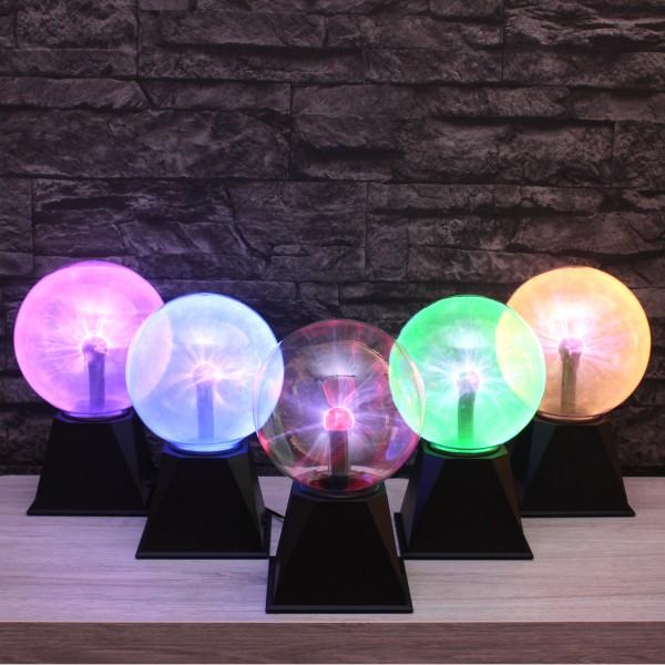 Plasmakugel – zuckend, grüne Blitz-Show – Automatikbetrieb oder Musiksteuerung - 15cm Kugel