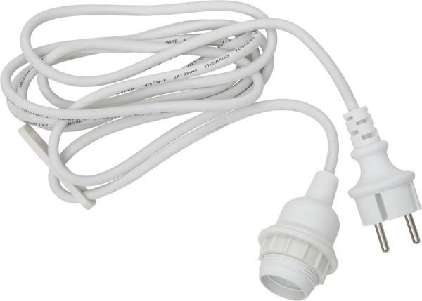 """System CONNECTA WHITE - E27-Fassung """"Ute"""" weiß - für den Außenbereich - 2,5m - max 25W"""