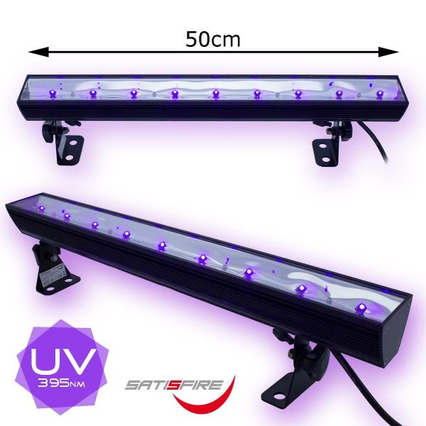 UV50LED BAR - 9x3W Schwarzlicht Bar - Metallgehäuse schwenkbar - SATISFIRE
