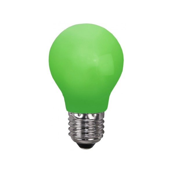 LED Leuchtmittel DEKOPARTY grün - E27 - 0,9W LED - schlagfestes Polycarbonatgehäuse