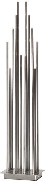 "LED-Standleuchte ""Karla"" - 12 warmweiße LEDs - H: 68cm, L: 15cm - silber"
