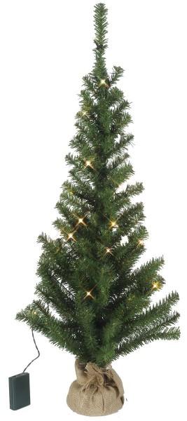 """LED-Tannenbaum """"Toppy"""" - im Jute-Sack - H: 90cm, D: 45cm  - 30 warmweiße LEDs - Timer - Batterie"""
