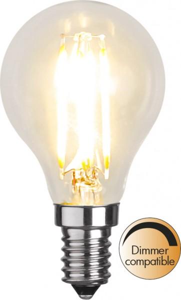 LED Tropfenlampe FILA P45 - E14 - 4,2W - warmweiss 2700K - 420lm - klar
