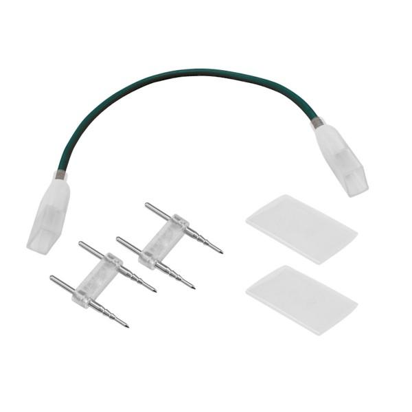 Flexibler Verbinder - LED NEON FLEX 230V SLIM - Anschlusskit mit 2 Stück Einspeisekontaktstift