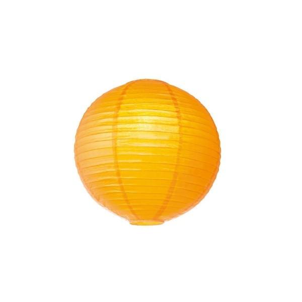 Lampion aus Papier - orangegelb - 40cm - für E27 Hängefassungen oder Lichterketten