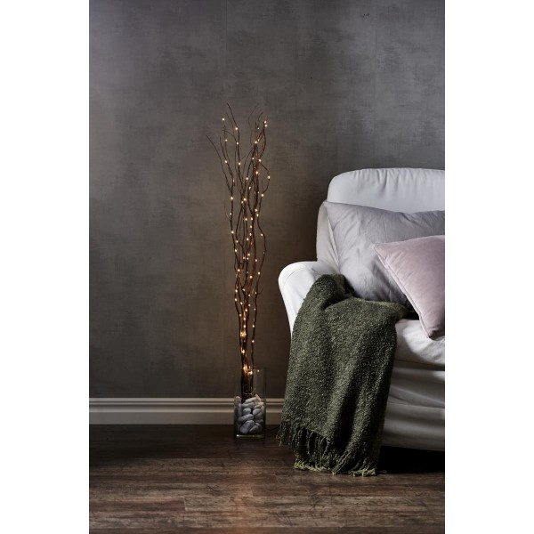"LED Leuchtzweig ""Willow"" - braune Weide - 90 warmweiße LED - H: 115cm - inkl. Trafo"