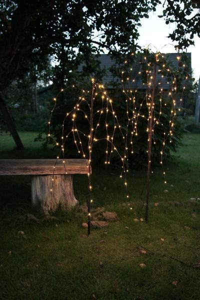 LED Trauerweide 150cm - braun mit 144 warmweißen LEDs - Trafo - für Außen