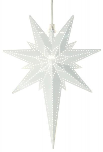 """Messingstern """"Bethlehem"""" - hängend - 7-zackig - H: 35cm, L: 25cm - inkl. Kabel - weiß"""