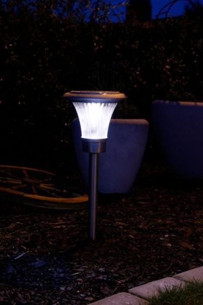 Wegeleuchte - LED - Solar - Edelstahl - 62cm x 20cm - 28 Lumen