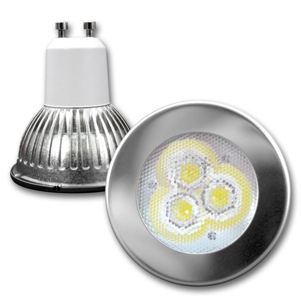 LED Spot MR16 GU10, kaltweiß, 5100K, 30° NICHIA-LEDs - 3W