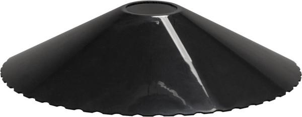 System CONNECTA BLACK - 5er Pack schwarzer Lampenschirm - D: 20,5cm - H: 4,5cm - outdoor