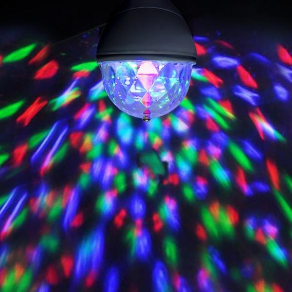 PARTY LAMP - E27 Fassung - einfacher, raumfüllender LED Partyeffekt - RGB Farben