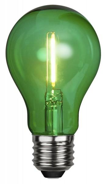 LED Leuchtmittel DEKOPARTY grün - klar - A60 - E27 - 1W - 57lm