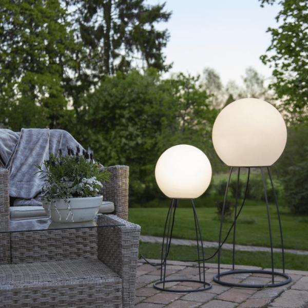 "Beistelllampe/Gartenlampe ""SIT"" - outdoor IP65 - E27 Sockel - H: 70cm D: 29cm - max 23W - weiß"