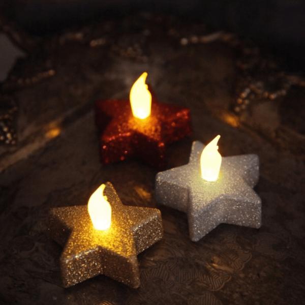 LED-Teelicht   Shine   flackernde LED   ↑5cm   2er Set