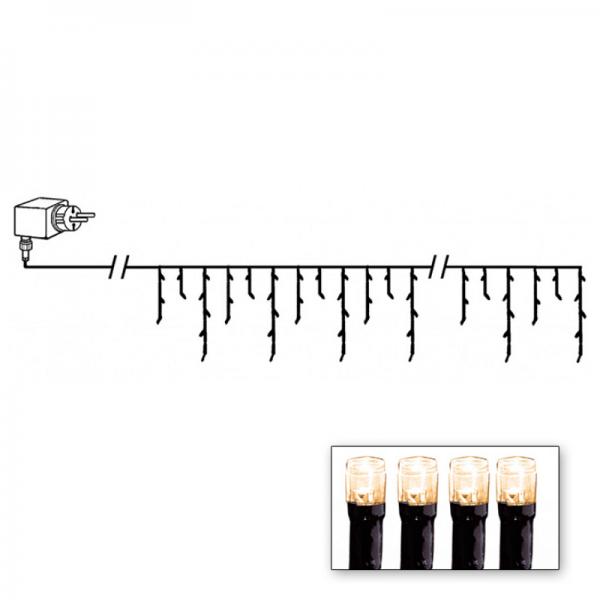 LED Lichtvorhang - Serie LED - outdoor - 144 warmweiße LED - L: 4m, H: 40cm - schwarzes Kabel
