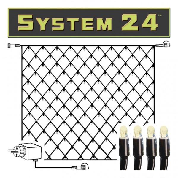 System 24 | LED-Lichternetz | koppelbar | inkl. Trafo | 2.00 x 2.00m | 140x Warmweiß