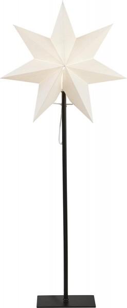 """Standstern """"Frozen"""" ca. 35 x 85 cm, Farbe: weiss schwarzes Textilkabel, Material: Metall / Papier ohne Lochung, Vierfarb-Karton"""