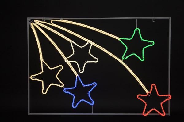 """LED Sterne """"NeoLed"""" - 600 bunte LEDs - 111 x 76 cm - im Metallrahmen - outdoor"""