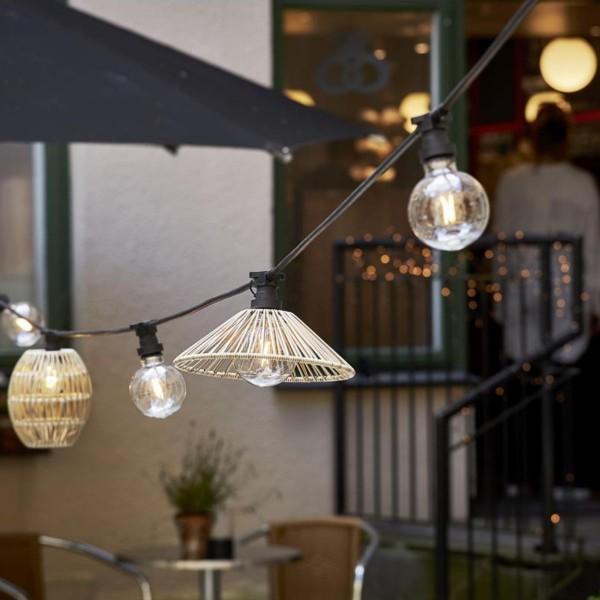 Lampenschirm VIDE wetterfest - für E27 Fassungen - D: 25cm - H: 8cm - beige