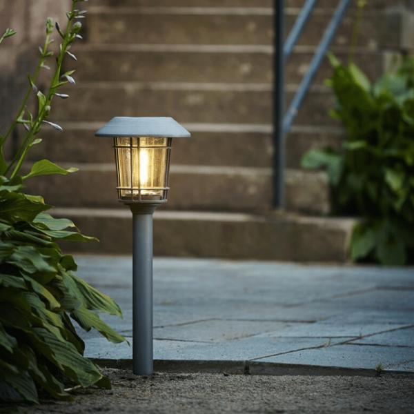 "LED Solar Wegleuchte ""Filipp"" - Edelstahl - 2 warmweiße LED - H: 60cm - Dämmerungssensor - anthrazit"