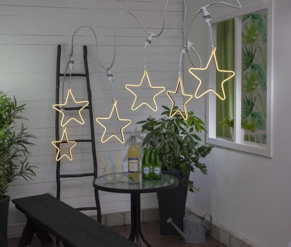"System CONNECTA - ""Star"" gelb - LED-Objekt mit E27 Fassung - outdoor - H: 52cm - B: 26cm"
