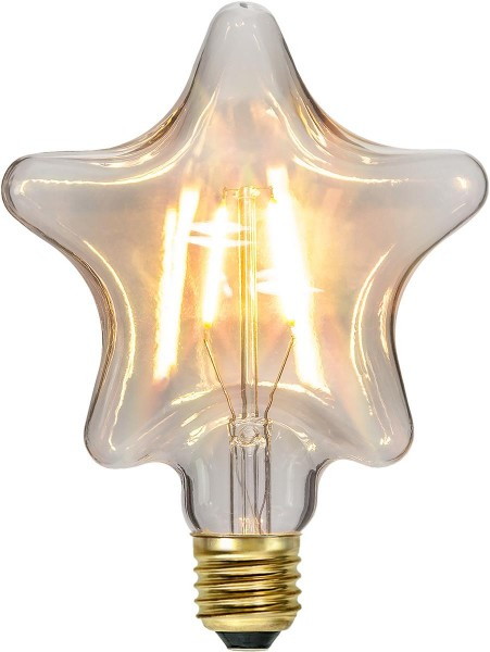 LED DEKO Leuchtmittel STAR - E27 - 1,4W - warmweiss 2200K - 110lm - klar