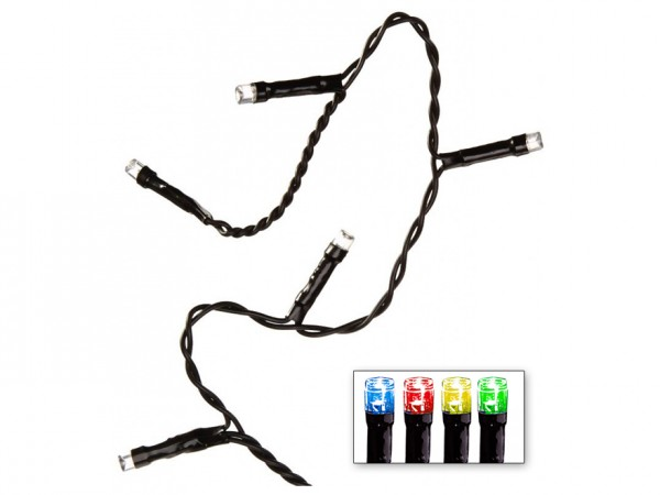 LED-Lichterkette | Serie LED | Outdoor | Schwarzes Kabel | bunte LED | 16.00m | 160x LEDs