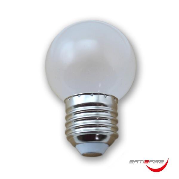 Kugellampe G45 opal - 2100K ultra-warmweiss - E27 - 45lm - 1W - Frost