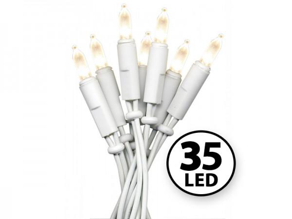 LED-Weihnachts-Lichterkette | P-LED INDOOR | Weißes Kabel | 5.10m | 35x LED | Warmweiß