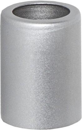 Ringhülse für Stabkerzen - silber - 5er Pack - H: 3,8cm - D: 2,7cm