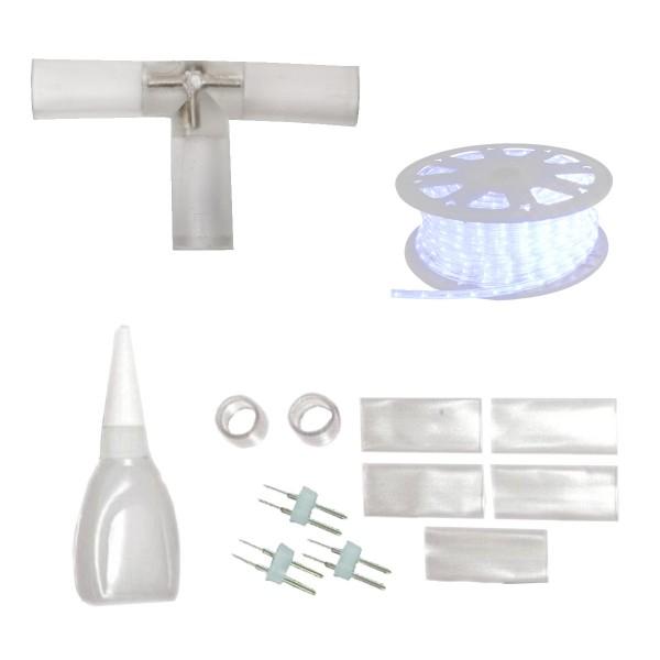 Lichtschlauch T-Verbindungsstück - Abzweig - Montageset