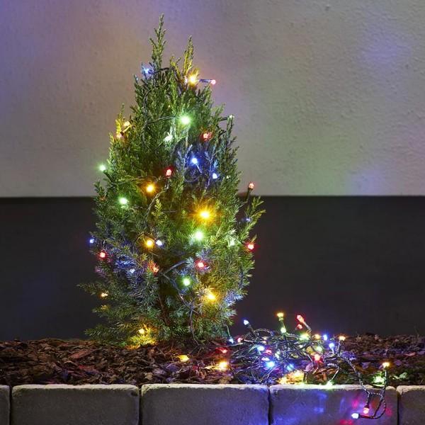 """LED Lichterkette """"Star Light"""" - 100 bunte LED - L: 10,0m - outdoor - grünes Kabel"""
