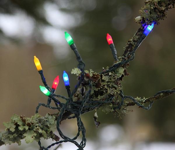 LED-Lichterkette - Garden Line Outdoor - 15,80m - 80x Bunt - Grün