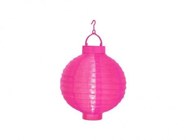 Solar-Lampion pink - LED Automatik bei Dunkelheit - D: 20cm - mit Montagehaken