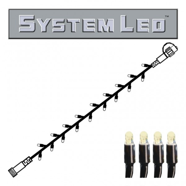 System LED Black | Lichterkette | koppelbar | exkl. Trafo | 3.00m | 30x Warmweiß