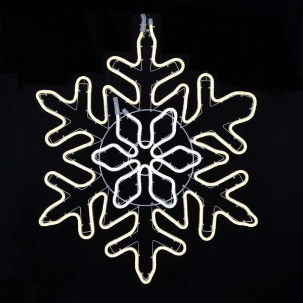 """LED Schneeflocke """"NeoLed""""- 480 warm + kaltweiße LED - 68 x 80 cm - outdoor - 8 Geschwindigkeiten"""