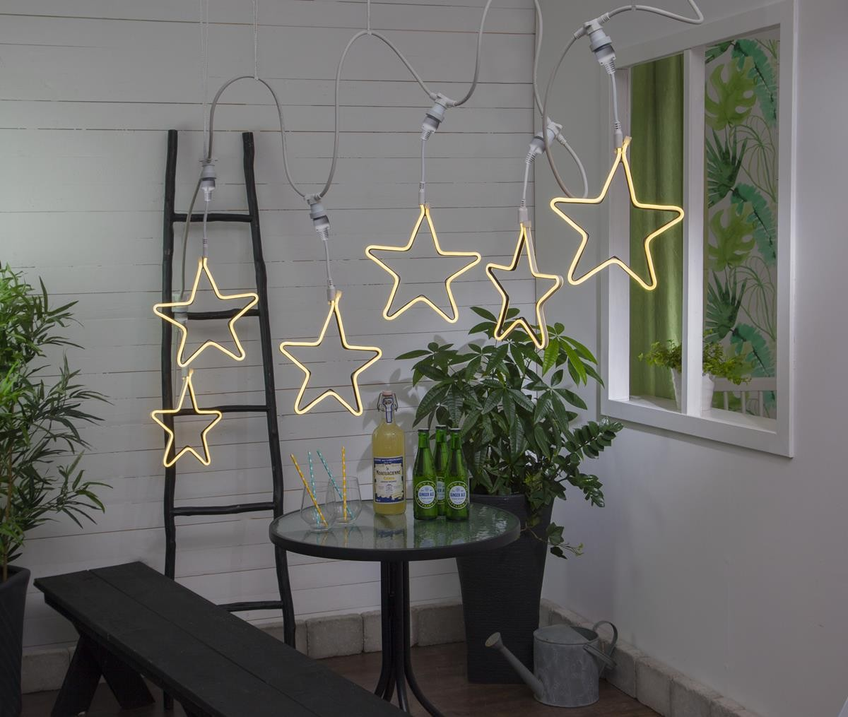 System CONNECTA - Star gelb - LED-Objekt mit E27 Fassung - outdoor - H: 52cm - B: 26cm