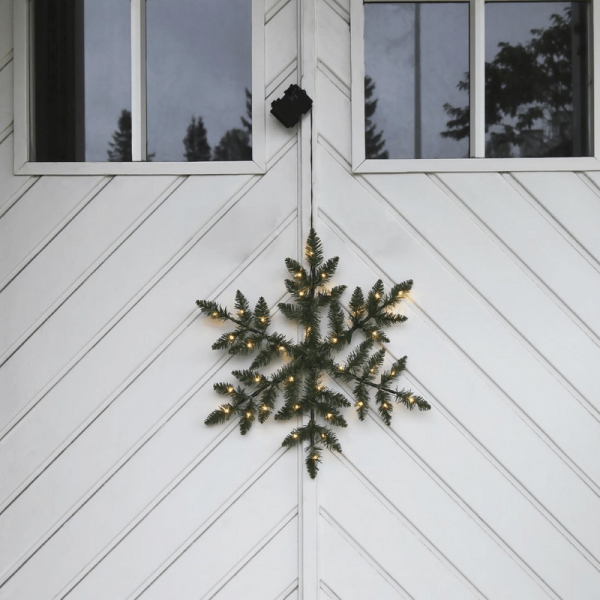 "LED-Schneeflocke ""Snowflake"" - Tannendekor - D: 50cm - 36 warmweiße LED - outdoor - Batterie/Timer"
