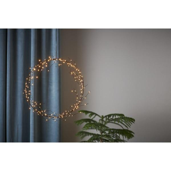 "LED Kranz ""Curly"" - 200 warmweiße LED - D: 35cm - schwarz"