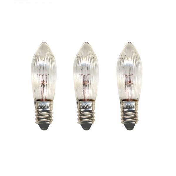 Ersatz-Leuchtmittel - E10 - 12V - 2,4W - 3 Stück