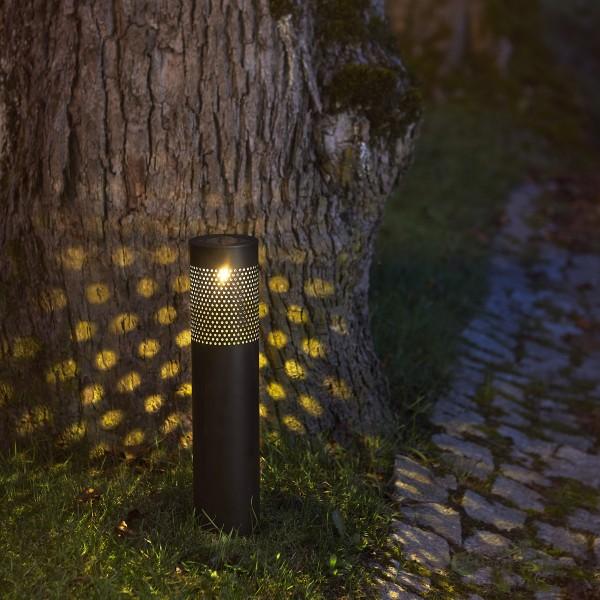 """LED Solar Wegleuchte """"Blace"""" - warmweiße LED - H: 39cm - Dämmerungssensor - schwarz"""