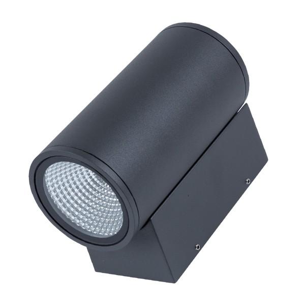 Wandleuchte DOBLE - CREE COB LED - 3000K - 46° - 13W - IP54 - anthrazit - Fassadenleuchte