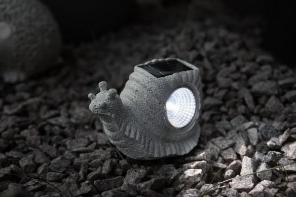 LED-Solarstein - 3x Warmweiß - 10x17 cm - Schnecke 5